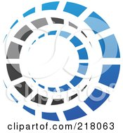 Royalty Free RF Clipart Illustration Of An Abstract Circle Logo Icon Design 18 by cidepix #COLLC218063-0145