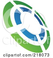 Royalty Free RF Clipart Illustration Of An Abstract Tilted Rifle Target Logo Icon 2 by cidepix