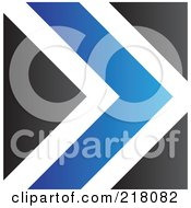 Abstract Blue White And Black Arrow Logo Icon Or Background
