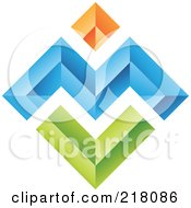 Poster, Art Print Of Abstract Colorful Walls Logo Icon - 4