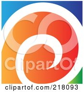Royalty Free RF Clipart Illustration Of An Abstract Spiraling Logo Icon 2 by cidepix