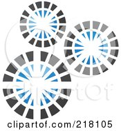 Royalty Free RF Clipart Illustration Of An Abstract Gear Logo Icon 3