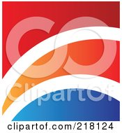 Abstract Red White Orange And Blue Logo Icon Or Background