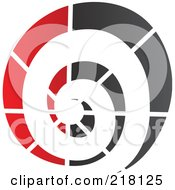 Royalty Free RF Clipart Illustration Of An Abstract Spiraling Logo Icon 4 by cidepix