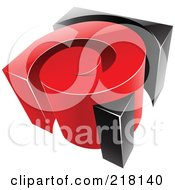 Royalty Free RF Clipart Illustration Of An Abstract 3d Red And Black Swirl Logo Icon by cidepix
