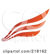 Royalty Free RF Clipart Illustration Of An Abstract Red And Orange Wing Or Flow Logo Icon