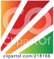 Abstract Orange White Red And Green Logo Icon Or Background