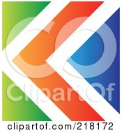 Abstract Green White Orange And Blue Arrow Logo Icon Or Background
