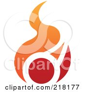 Royalty Free RF Clipart Illustration Of An Abstract Red And Orange Fire Logo Icon 2