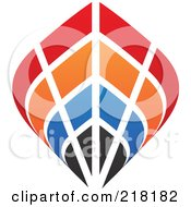 Royalty Free RF Clipart Illustration Of An Abstract Colorful Ship Logo Icon