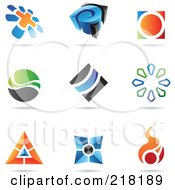 Royalty Free RF Clipart Illustration Of A Digital Collage Of Abstract Logo Icons With Shadows 22