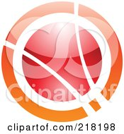 Royalty Free RF Clipart Illustration Of An Abstract Orange And Red Orb Logo Icon by cidepix