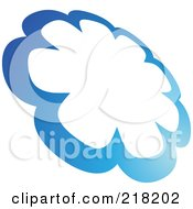 Royalty Free RF Clipart Illustration Of An Abstract Cloud Circle Logo Icon Design by cidepix