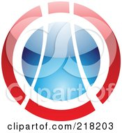 Royalty Free RF Clipart Illustration Of An Abstract Red And Blue Orb Logo Icon