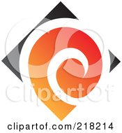 Royalty Free RF Clipart Illustration Of An Abstract Spiraling Logo Icon 1 by cidepix