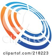 Royalty Free RF Clipart Illustration Of An Abstract Tilted Rifle Target Logo Icon 1 by cidepix