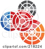 Royalty Free RF Clipart Illustration Of An Abstract Colorful Gear Logo Icon
