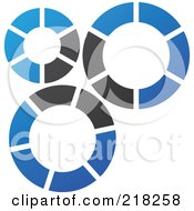 Royalty Free RF Clipart Illustration Of An Abstract Gear Logo Icon 1