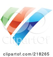Abstract Green Orange And Blue Bar Logo Icon