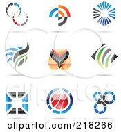 Royalty Free RF Clipart Illustration Of A Digital Collage Of Abstract Logo Icons With Shadows 9