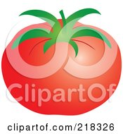Royalty Free RF Clipart Illustration Of A Shiny Red Beefy Tomato