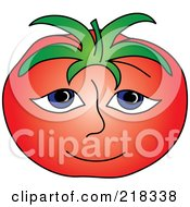 Royalty Free RF Clipart Illustration Of A Red Beefy Tomato Face