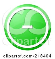 Royalty Free RF Clipart Illustration Of A Round Green And White Minus App Button by oboy