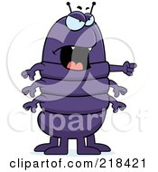 Royalty Free RF Clipart Illustration Of A Mad Centipede Angrily Pointing