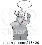 Royalty Free RF Clipart Illustration Of A Big Ram Standing And Thinking