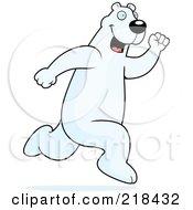 Polar Bear Running Upright by Cory Thoman