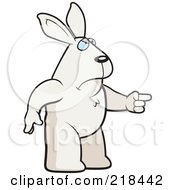 Royalty Free RF Clipart Illustration Of A Mad Rabbit Angrily Pointing