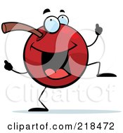 Royalty Free RF Clipart Illustration Of A Cherry Character Doing A Happy Dance