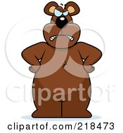 Royalty Free RF Clipart Illustration Of A Big Bear Standing With His Hands On His Hips