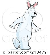 Royalty Free RF Clipart Illustration Of A Big Rabbit Walking Upright