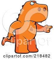 Royalty Free RF Clipart Illustration Of A Mad T Rex Angrily Pointing