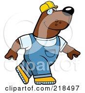 Construction Bear Walking