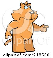 Royalty Free RF Clipart Illustration Of A Mad Cat Angrily Pointing