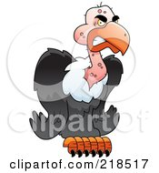 Royalty Free RF Clipart Illustration Of A Mean Buzzard by Cory Thoman