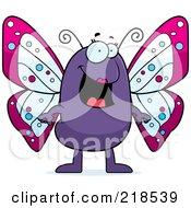 Happy Purple Butterfly Standing