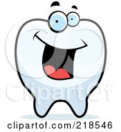 Royalty Free RF Clipart Illustration Of A Happy Tooth Character by Cory Thoman
