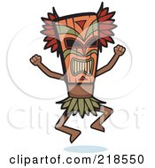 Royalty Free RF Clipart Illustration Of A Witch Doctor Doing A Tribal Dance by Cory Thoman