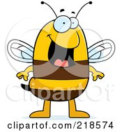 Royalty Free RF Clipart Illustration Of A Happy Bee Standing