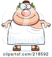 Royalty Free RF Clipart Illustration Of A Plump Roman Man