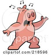 Pig Singing And Lunging Forward by Cory Thoman