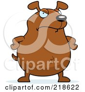 Royalty Free RF Clipart Illustration Of A Mad Dog Standing With His Hands On His Hips