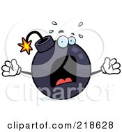 Royalty Free RF Clipart Illustration Of A Panicked Bomb Freaking Out