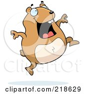 Royalty Free RF Clipart Illustration Of A Hamster Jumping