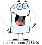 Royalty Free RF Clipart Illustration Of A Happy Paper Character Waving by Cory Thoman