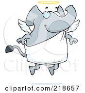 Angel Elephant Flying by Cory Thoman