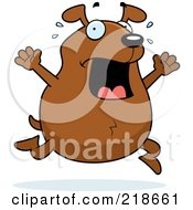 Royalty Free RF Clipart Illustration Of A Stressed Dog Freaking Out